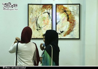 تصویری-نمایشگاه نقاشی گروه ترکیب