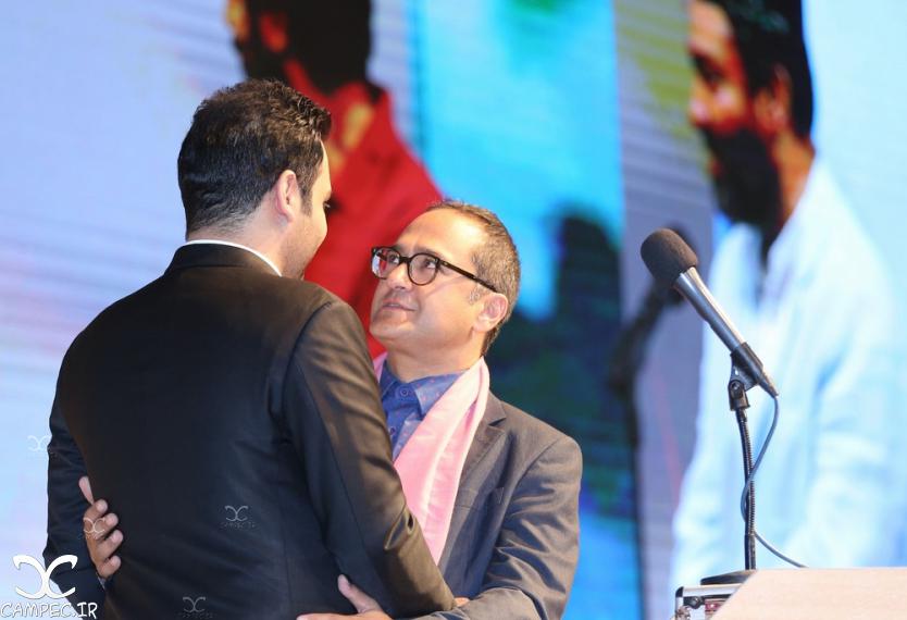 رامبد جوان و احسان علیخانی در اختتامیه جشنواره فیلم سلامت