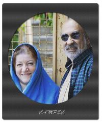 عکسها و بیوگرافی عادل بزدوده با همسرش طاهره برومند