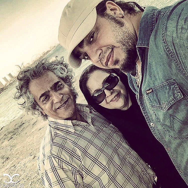 افسر اسدی و همسرش اصغر همت و پسرشان