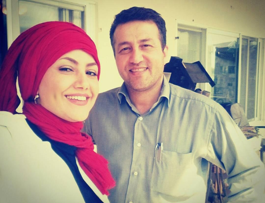 ماندانا نصرتی با همسرش