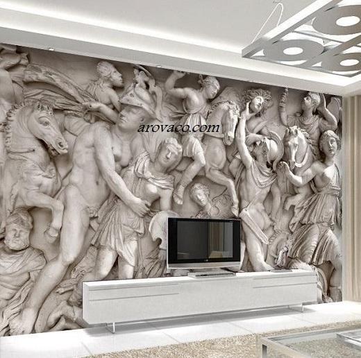 کاغذ دیواری پوستری سه بعدی طرح مجسمه image