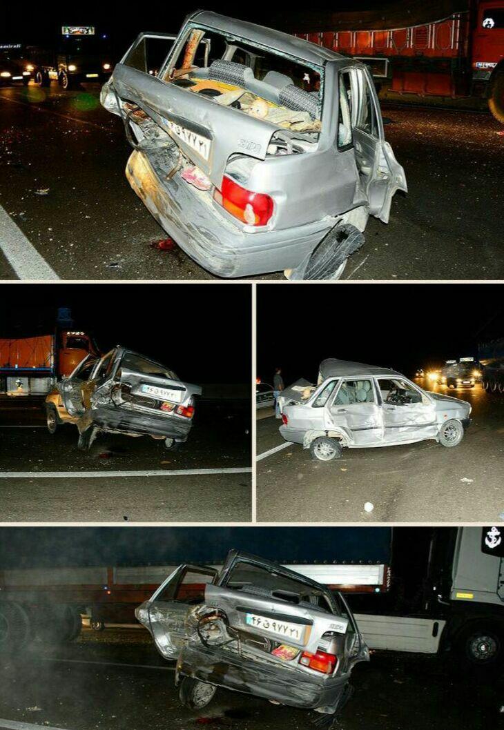 ❌ تصادف شدید در اتوبان ساوه - تهران