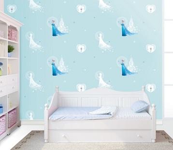 کاغذ دیواری اتاق کودک دختر- کاغذ دیواری دخترانه