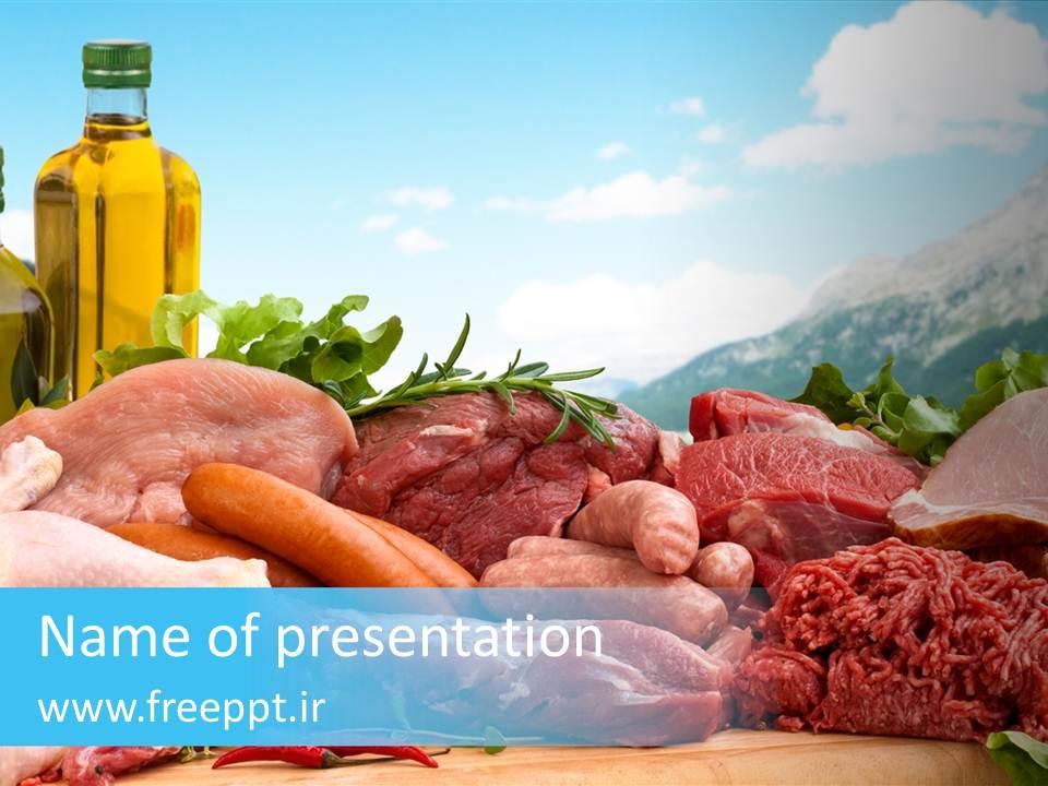 قالب پاورپوینت با موضوع گوشت