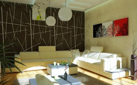کاغذ دیواری مدرن سالن پذیرایی image