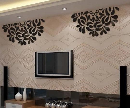 کاغذ دیواری دیوار پشت تلویزیون image