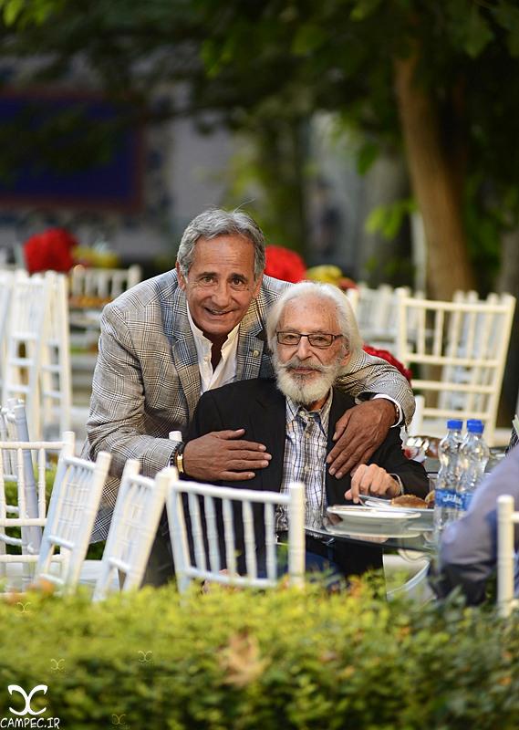 جمشید مشایخی و مجید مظفری در جشن روز ملی سینما