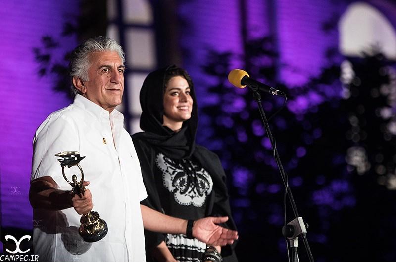 رضا کیانیان و غزل شاکری در هجدهمين جشن خانه سینما