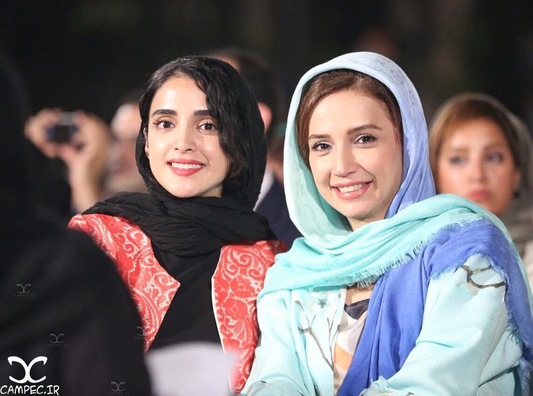 شبنم قلی خانی و الهه حصاری در هجدهمین جشن خانه سینما