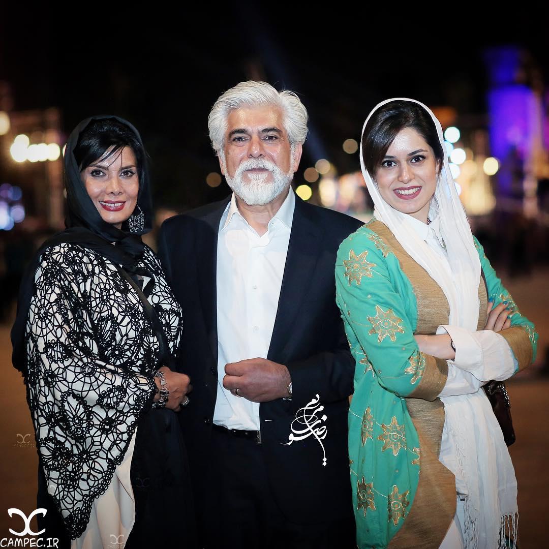 عاطفه رضوی و همسر و دخترش در هجدهمین جشن خانه سینما