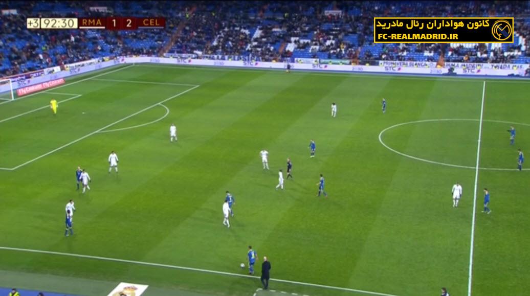 دانلود خلاصه بازی و گلهای رئال مادرید 1-2 سلتاویگو جام حذفی