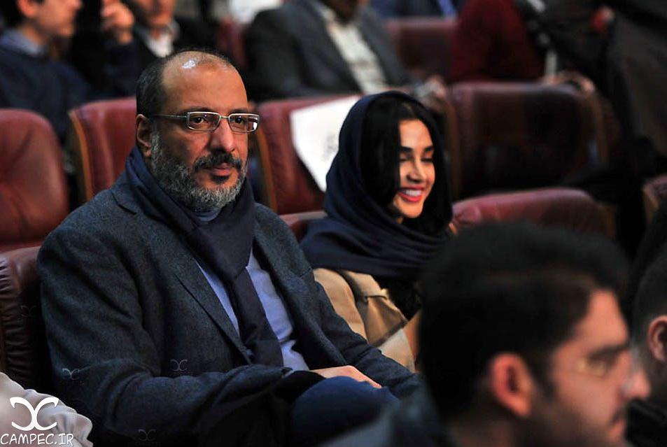 امیر جعفری و الهه حصاری در افتتاحیه جشنواره 35 فیلم فجر