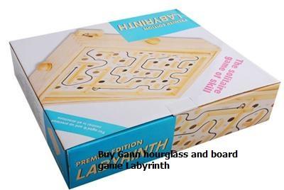 خرید گن ساعت شنی و تخته بازی Labyrinth