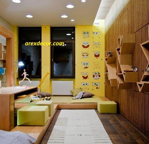 دکوراسیون اتاق دختر- دکوراسیون باب اسفنجی- دکوراسیون کودکانه. دکوراسیون دخترانه