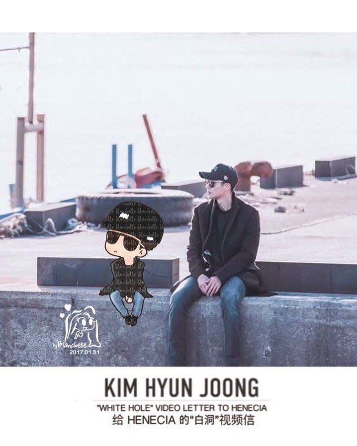 [blancbelle fanart] Kim Hyun Joong - White Hole Video Letter To Henecia [2017.01.31]