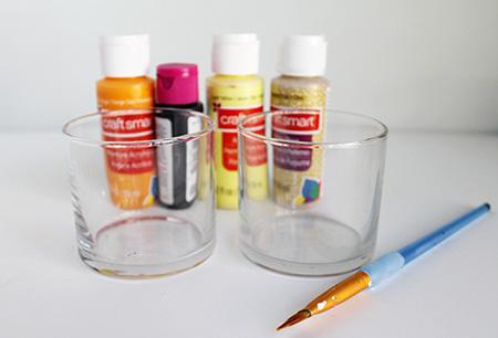 آموزش تصویری ساخت جا شمعی با لیوان