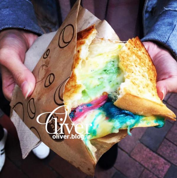 ساندویچهای رنگارنگ در هنگکنگ