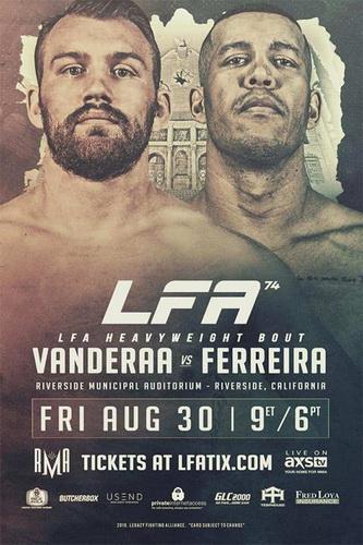 دانلود مسابقات ام ام ای | LFA 74: Vanderaa vs. Ferreira