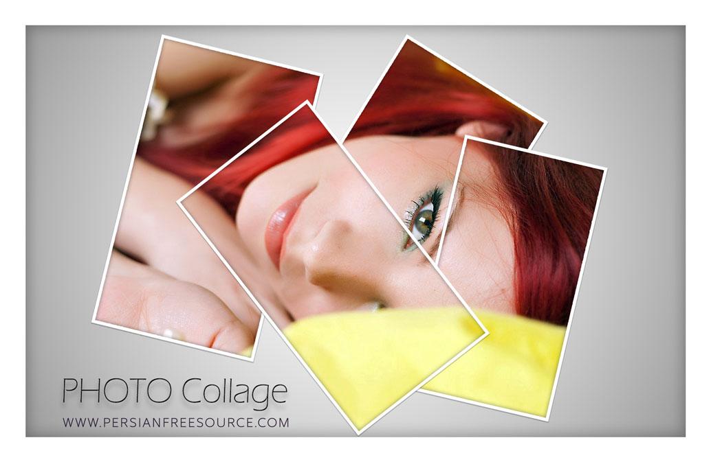 آموزش تصویری ساخت فتو کولاژ Photo Collage در فتوشاپ
