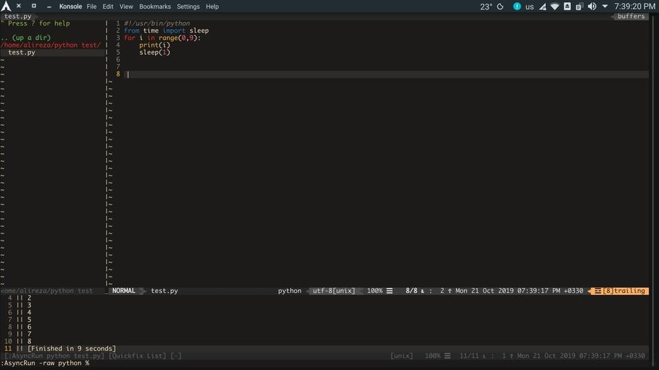 چگونه برای کامپایل فایلها یا اجرای اسکریپتها در Vim کلید میانبر ایجاد کنیم؟