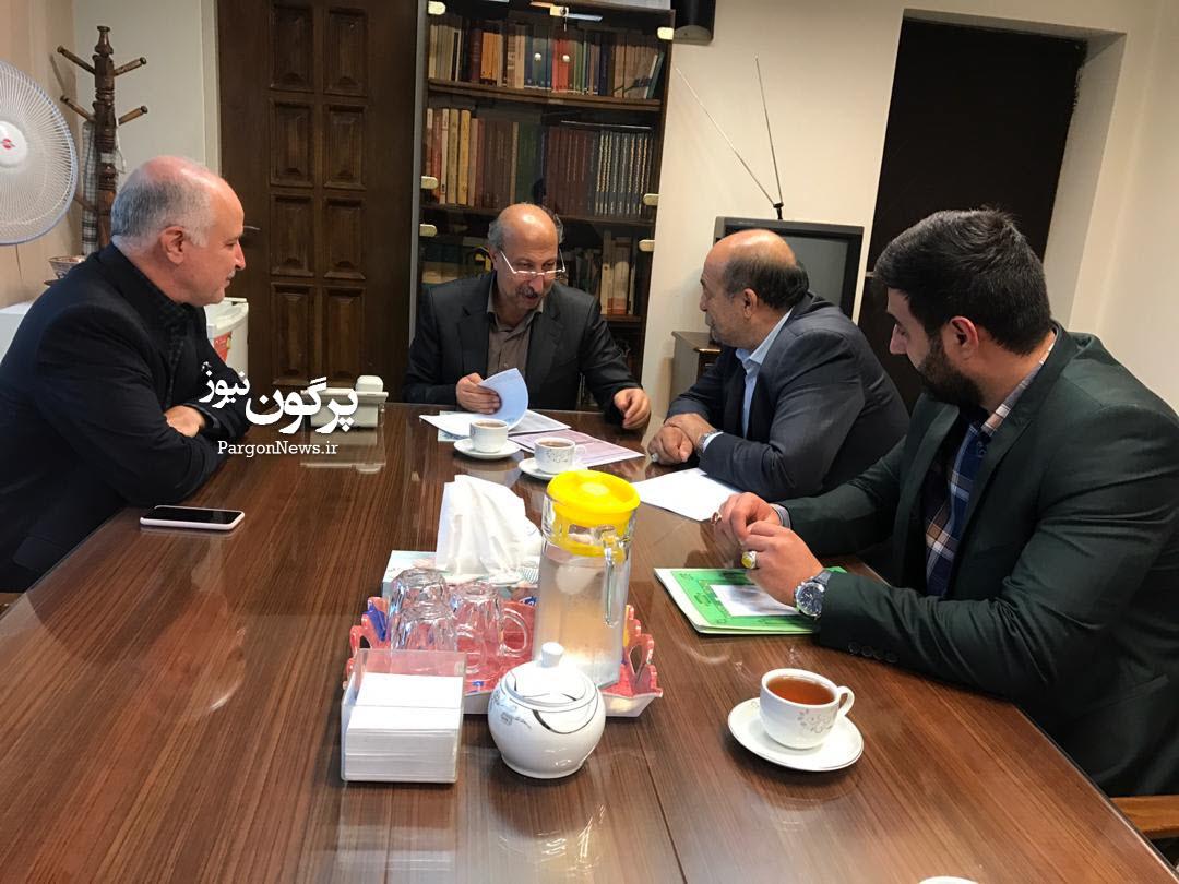 جلسه نماینده قیروکارزین در خصوص حل مشکل واگذاری اراضی سرآسیاب قیروکارزین