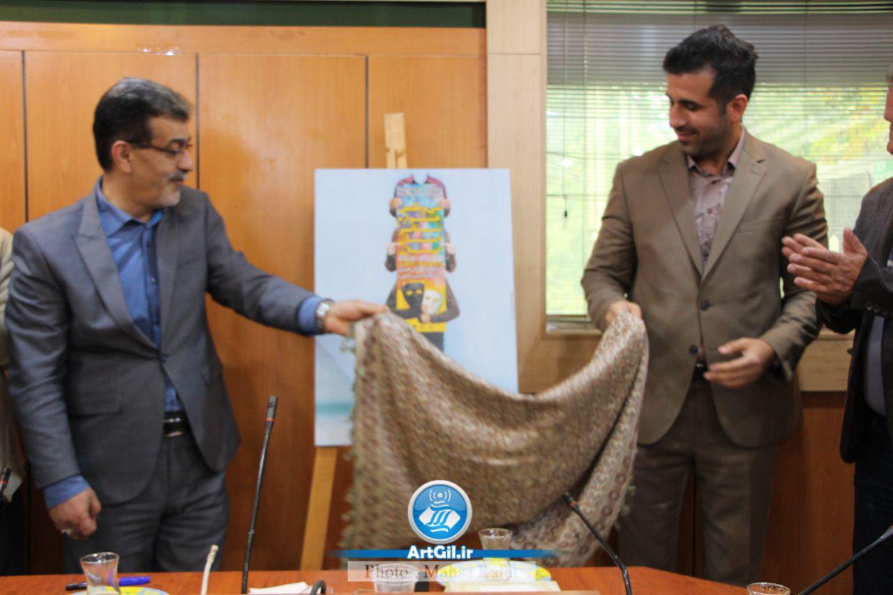 گزارش تصویری نشست خبری و رونمایی از پوستر سی و یکمین جشنواره تئاتر استان گیلان