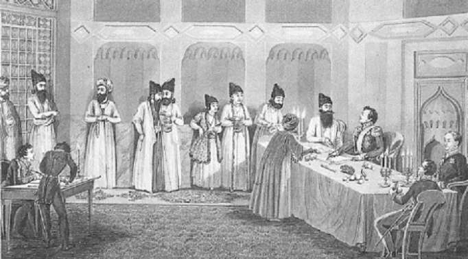 امضای عهدنامه گلستان