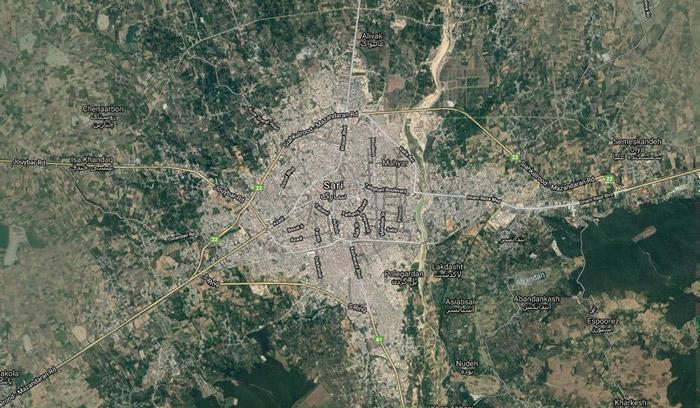 تشخیص شهرها از تصاویر ماهواره ای