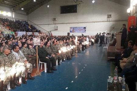 تجلی اقتدار در تجمع بسیجیان آستارا
