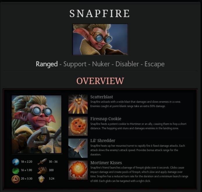 معرفی هیروی جدید Dota 2 به نام Snapfire