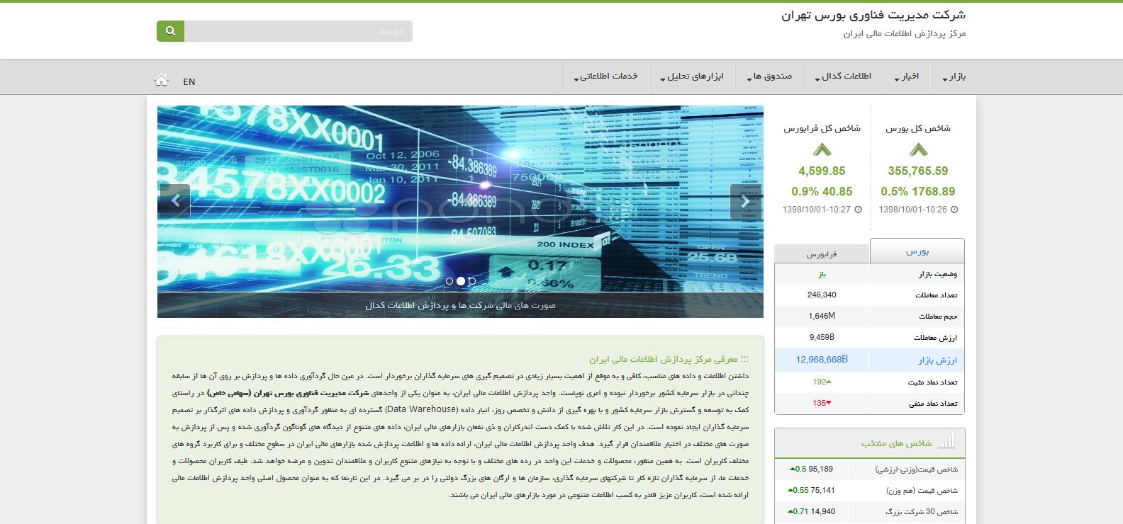 سامانه مرکز پردازش اطلاعات مالی ایران