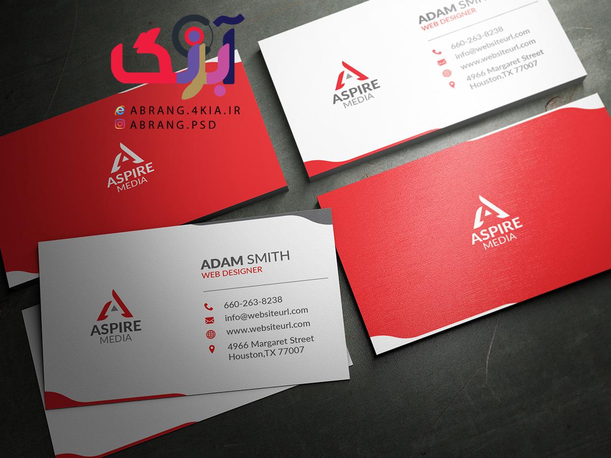 دانلود کارت ویزیت شخصی و شرکتی به صورت لایه باز