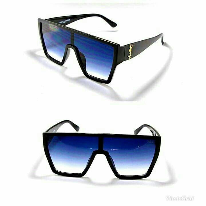 عینک آفتابی مردانه و زنانه فرم کاچویی فلت مارک  ایو سن لوران YSL