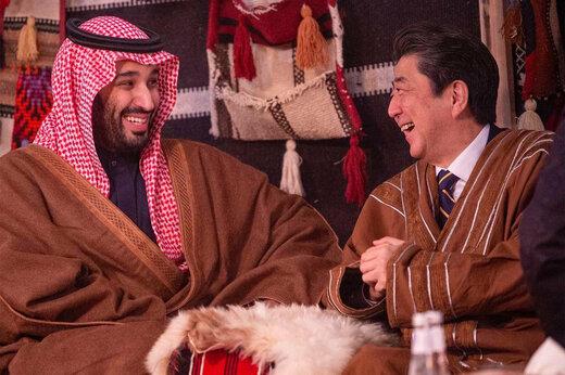 تصاویر-بگو و بخند آبه شینزو با بن سلمان با طعم قهوه عربی
