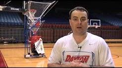 Penetrate & Pass Basketball shooting drill with Gun Shooting Machine