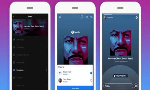 Share Spotify Songs to Facebook Stories