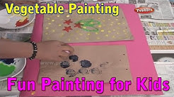 Vegetable Painting Paper Bag - Painting Techniques For Kids - Painting Tutorials For Beginners
