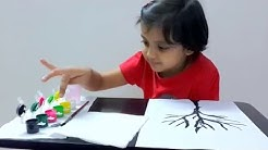 Finger painting for Kids, Kids Art - Thumb Painting Tutorial for Kids under five