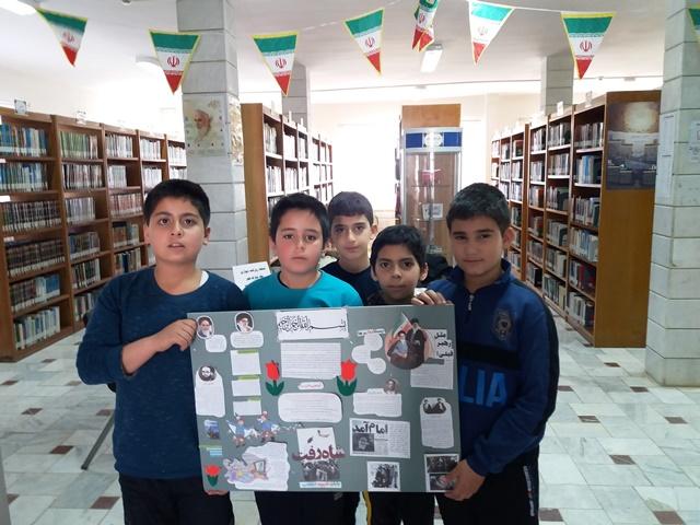 اجرای مسابقه روزنامه دیواری