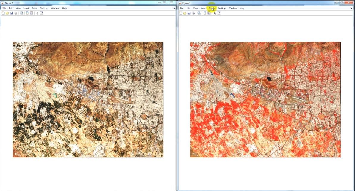 هموارسازی هیستوگرام تصویر در نمایش به صورت RGB و False Color سنتینل 2