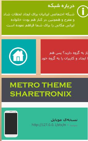 قالب مترو برای شیرترانیکس