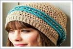 کلاه قلاب بافی زنانه