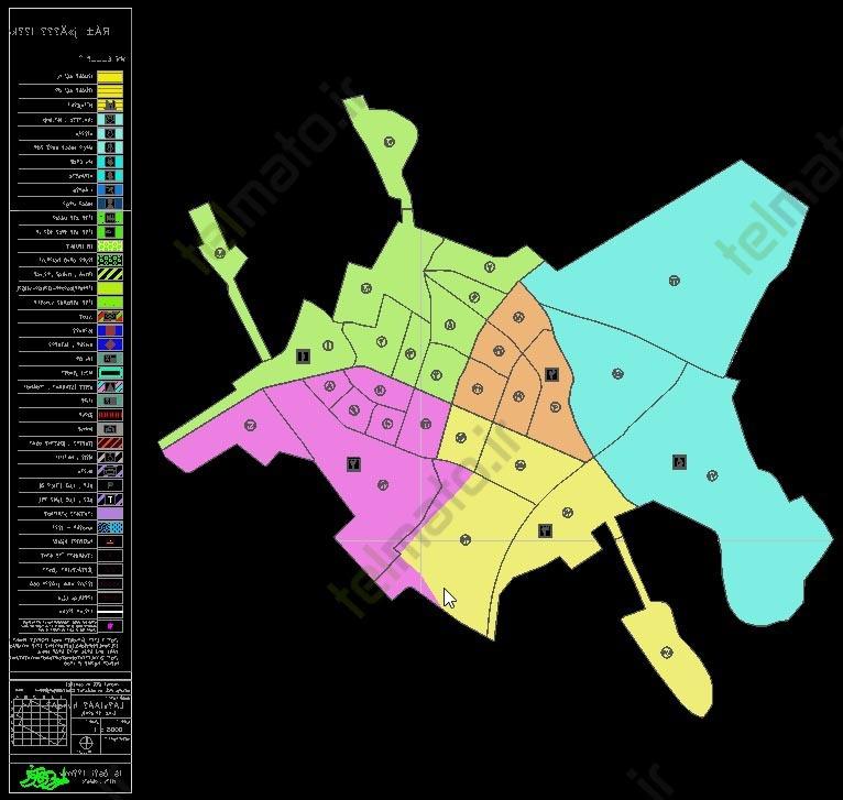 دانلود رایگان فایل اتوکد نقشه معماری و طرح تفضیلی شهر میاندوآب فرمت DWG autocaf | تلماتو نقشه اتو کد معماری شهرستان میاندو آب