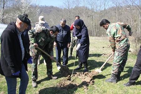 گرامیداشت روز درختکاری با کاشت نهال در آستارا