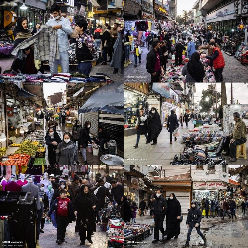 هجوم مردم به بازار برای خرید شب عید