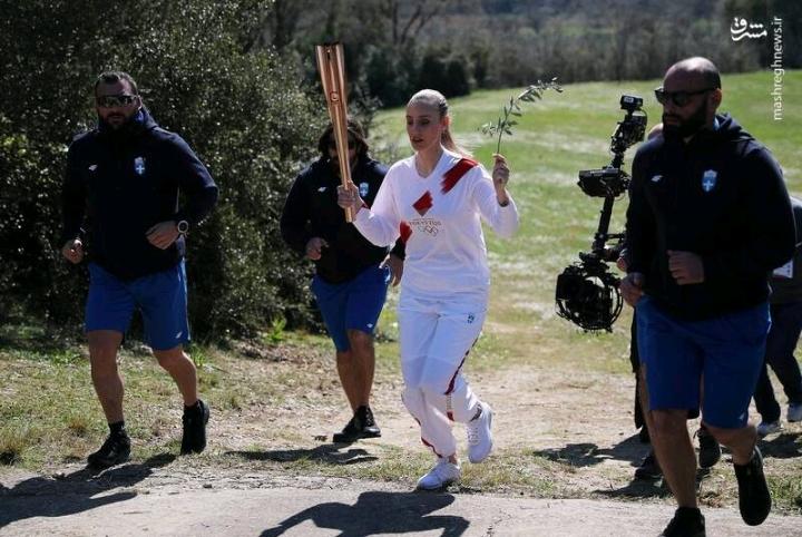 برگزاری مراسم حمل مشعل المپیک بدون حضور تماشاگر برگزار شد