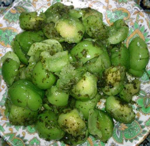 گوجه سبز خشمزه
